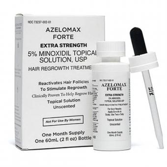 Лосьон для стимуляции роста волос Азеломакс Форте 5% (Скидки от 2 шт.)