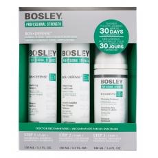 Система зеленая Bosley для нормальных/тонких неокрашенных волос (шампунь, кондиционер, уход)
